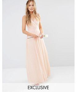 TFNC | Платье Макси С Запахом И Складками Wedding Телесный