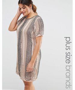 Lovedrobe Luxe | Цельнокройное Платье С Отделкой Розовый