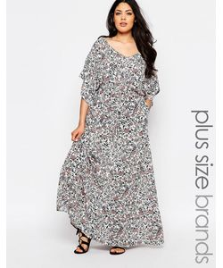 NVME | Платье Макси С Цветочным Принтом Plus
