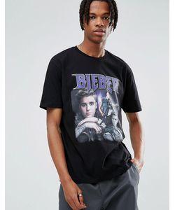Asos | Свободная Футболка Justin Bieber
