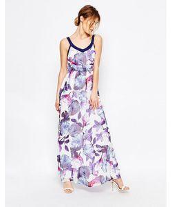 Uttam Boutique | Платье Макси С Цветочным Принтом Синий
