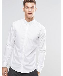 BOSS Orange | Белая Зауженная Рубашка На Пуговицах Белый
