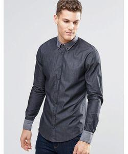 BOSS Orange | Черная Рубашка Зауженного Кроя На Пуговицах Черный