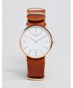 Reclaimed Vintage | Часы Со Светло-Коричневым Кожаным Ремешком Рыжий