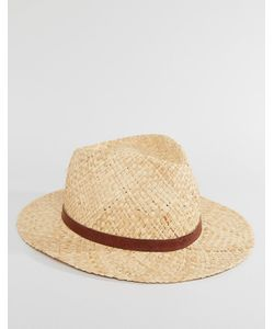 Catarzi | Соломенная Шляпа С Кожаной Тесьмой Бежевый