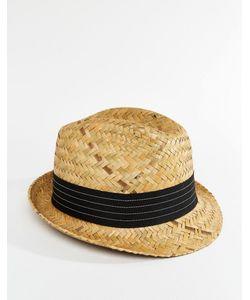 Catarzi | Соломенная Шляпа С Черной Лентой Бежевый