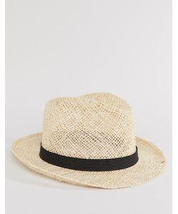 Catarzi | Соломенная Шляпа С Черной Тесьмой В Полоску Бежевый