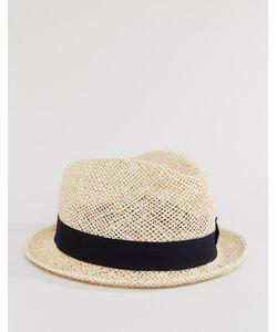 Catarzi | Соломенная Шляпа С Черной Тесьмой Бежевый