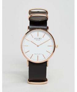Reclaimed Vintage | Часы С Черным Кожаным Ремешком Черный