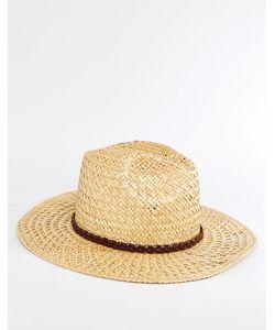 Catarzi | Соломенная Шляпа С Плиссированной Кожаной Лентой Бежевый