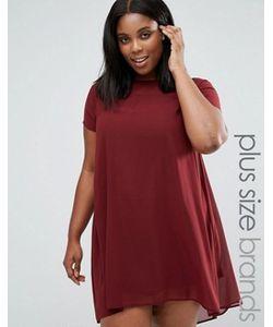 AX Paris   Свободное Платье С Полупрозрачными Вставками Plus