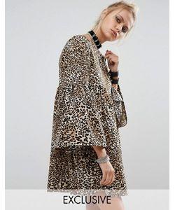 Milk It | Платье С Присборенной Юбкой И Леопардовым Принтом