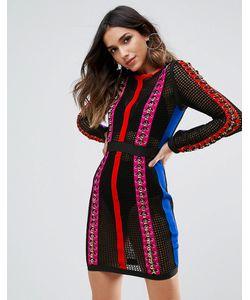 WOW Couture   Облегающее Платье Мини Со Шнуровкой