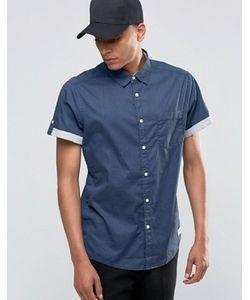 Esprit | Рубашка С Короткими Рукавами И Контрастными Отворотами