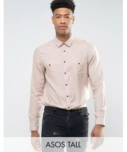 Asos | Вискозная Рубашка Классического Кроя Tall