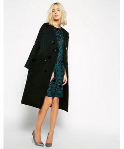 ASOS Black   Пальто Декорированное Камнями