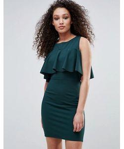 Wal G | Платье С Открытыми Плечами И Оборкой