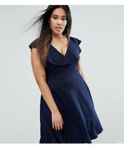 Club L | Короткое Приталенное Платье С Оборками На Плечах Plus