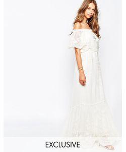 White Sand | Платье С Открытыми Плечами Из Цветочного Кружева Juliet