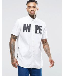 AAPE | Классическая Рубашка Слим С Короткими Рукавами By A Bathing Ape