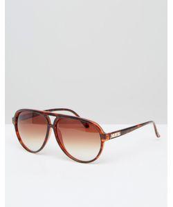 Crap Eyewear | Коричневые Авиаторы В Черепаховой Оправе Блестящий Черепаховый