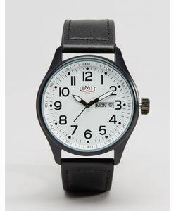 Limit | Часы С Черным Кожаным Ремешком И Белым Циферблатом Черный