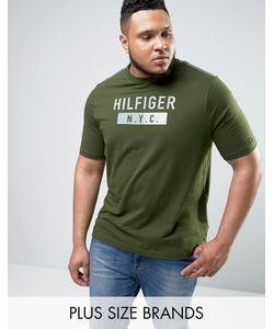 Tommy Hilfiger | Зеленая Футболка С Логотипом Nyc Plus Brad