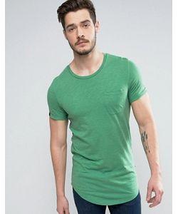Produkt | Longline T-Shirt With Pocket In Slub Cotton