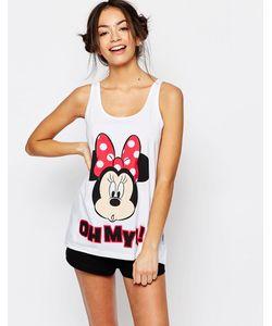 Missimo | Пижамный Комплект С Шортами Disney Minnie Mouse Красный