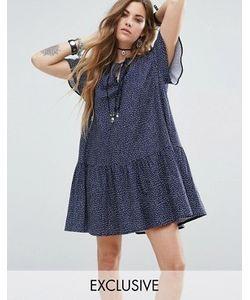 Reclaimed Vintage | Платье Мини С Завязкой На Горловине Inspired