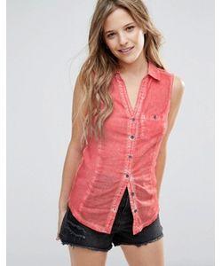 Brave Soul   Выбеленная Джинсовая Рубашка Без Рукавов
