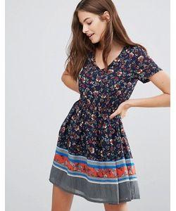 Yumi | Короткое Платье С Цветочным Принтом