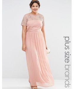Lovedrobe Luxe   Плиссированное Платье Макси С Отделкой Жемчугом