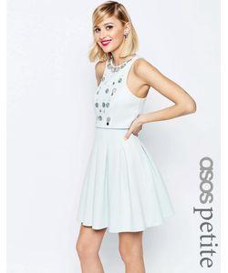 ASOS PETITE | Короткое Приталенное Платье С Кроптопом И Отделкой Мятный