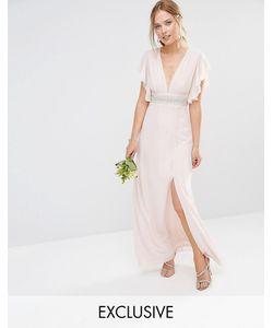 TFNC | Платье Макси С Декорированной Талией И Расклешенными Рукавами Wedding