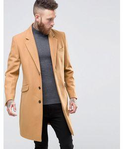 Asos | Шерстяное Пальто Кэмел