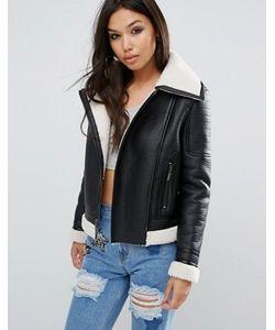 Glamorous | Байкерская Куртка На Меховой Подкладке