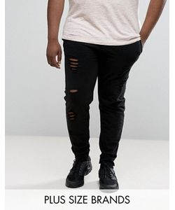 D-Struct | Plus Distressed Jersey Jogger Trousers