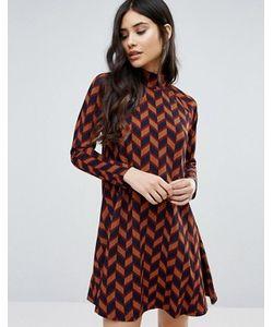 AX Paris | Long Sleeved Swing Dress