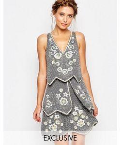 Frock and Frill | Декорированное Многоярусное Платье