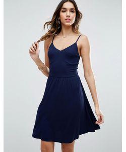Asos | Приталенное Платье Мини В Рубчик