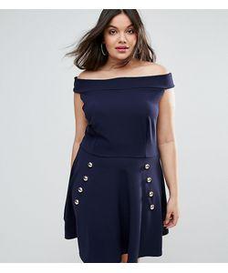 Club L | Приталенное Платье Из Крепа С Открытыми Плечами Plus