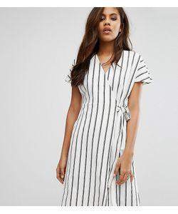 Vero Moda Tall | Чайное Платье В Полоску С Запахом