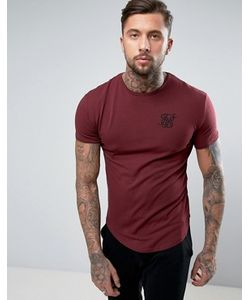 SikSilk | Muscle T-Shirt In Burgundy
