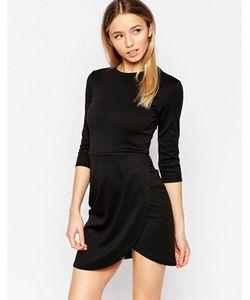 Club L | Платье С Асимметричным Запахом Спереди Essentials