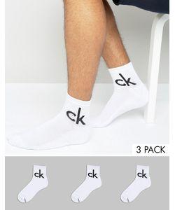 Calvin Klein | Набор Из 3 Пар Белых Носков