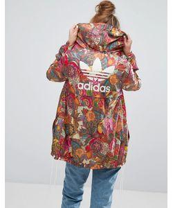 Adidas | Фестивальная Куртка С Ярким Цветочным Принтом Farm