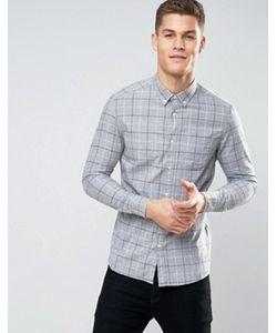 Burton Menswear | Узкая Клетчатая Рубашка С Начесом