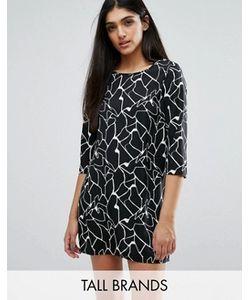 Vero Moda Tall | Цельнокройное Платье С Абстрактным Принтом