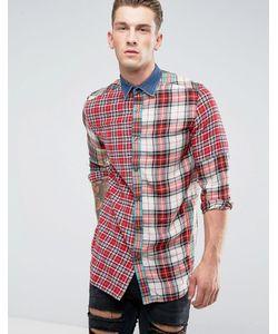 Diesel | Рубашка В Клетку С Длинными Рукавами И Джинсовым Воротником S-Melvin